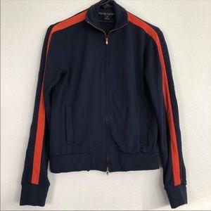 Ralph Lauren Navy Sweater Orange Detailed Sweater
